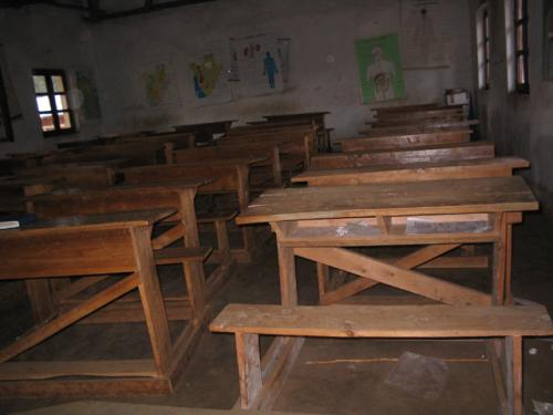 Une des salles de classe