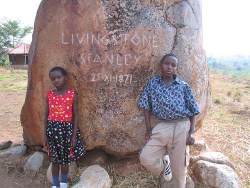 Près de Bujumbura, l'endroit où les 2 explorateurs anglais Livingstone et Stanley se sont rencontrés, le 25 novembre 2005